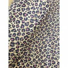 "Printed pattern Cheetah on natural cork fabric 68x50cm / 27.50""x20"", (S156)"