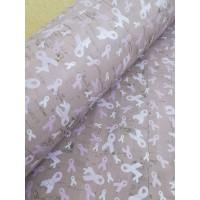 "Printed pattern Bows on Light Pink cork fabric 68x50cm / 27.50""x20"", (S166)"
