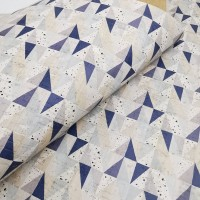 "Portuguese cork fabric, Printed pattern on white cork 68x50cm / 27.50""x20"", (S61)"