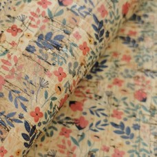 "Portuguese cork fabric, Printed pattern on natural cork 68x50cm / 27.50""x20"" (S80)"
