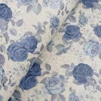 "Portuguese cork fabric, Printed pattern on grey cork 68x50cm / 27.50""x20"", (S82)"