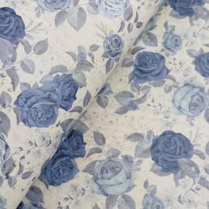 Cork leather - Portuguese cork fabric printed pattern on light gray cork (S82)