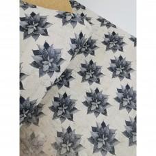"Cork fabric, Printed pattern on white cork 68x50cm / 27.50""x20"", (S95)"