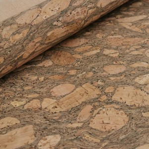 Cork leather - Portuguese cork fabric granada pattern