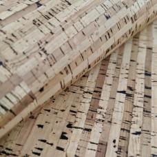 "STRIPES CORK FABRIC , green product, Portuguese cork fabric Natural 70x50cm / 27.50""x20"""
