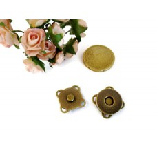 14mm sewing Magnetic Snaps closures anti brass 20 snaps - MS02