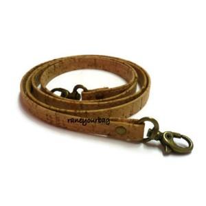 1 Genuine leather cork handbag handles,bag strap,purse strap,purse handles,120 cm hook antique brass