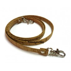 1 Genuine leather cork handbag handles,bag strap,purse strap,purse handles,120 cm hook Silver