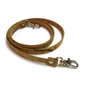 1 Genuine leather cork handbag handles,bag strap,purse strap,purse handles,120 cm hook Silver