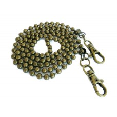 120cm (3,94 ft) balls chain antique brass 6mm ball