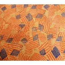 100x140cm Cork leather, green product, Portuguese cork fabric USA Flag Print (748-R10)