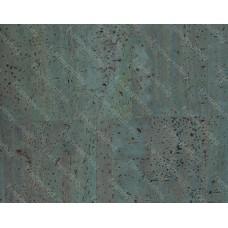 100x140cm Cork leather, green product, Portuguese cork fabric Blue (77.342)