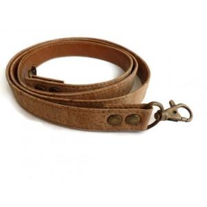 1 Genuine cork handbag handles with 120 cm x 18mm hook antique bras with PU backing