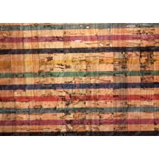 100x140cm Cork leather, green product, Portuguese cork fabric, Colored Stripes Printed pattern