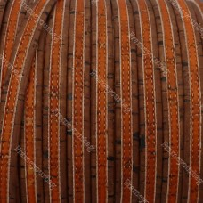 1 Meter Portuguese flat Cork 10x2mm, Brown&orange - REF-175