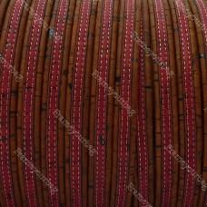 1 Meter Portuguese flat Cork 10x2mm, Brown&pink REF-171