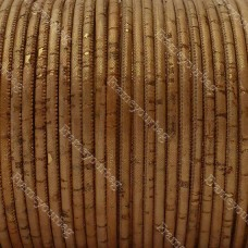 1 meter/ 39 in  - 3 mm Genuine Cork Cord (European product) REF-173