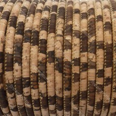 1m / 39 in - 3 mm Cork Cord Natural/zebra  REF-20