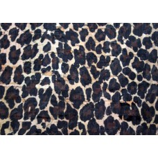 100x140cm Cork leather, green product, Portuguese cork fabric, Leopard printed pattern