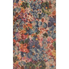 100x140cm Cork leather, green product, Portuguese cork fabric, big flowers Printed pattern