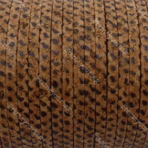 1 meter/ 39 in - Flat cork Leather cord Pitton - 5mm x 2mm (European product) REF-127