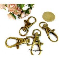 20pcs 4cm(length)x1.3cm(eyesize) hooks anti Brass - H05