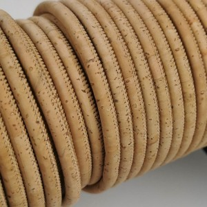 1 meter - 5 mm Genuine Cork Cord natural color (European product) REF-1