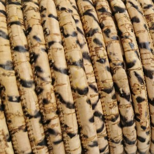 1 Meter / 39 in Portuguese Cork 5mm Leather Cord Piton - REF-154