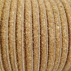 1meter cork Leather Cord 5mm stardust - REF-17