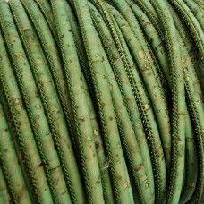 1m / 39 in - 3 mm Cork Cord Royal green - REF-178