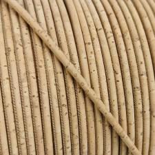 1 meter/ 39 in - 3 mm Genuine Cork Cord natural superior (European product) REF-2