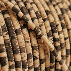 1 m/39 in of natural zebra cork cord of 3 mm REF-20