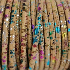 1m / 39 in - 3 mm Cork Cord Multicolor REF-24
