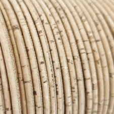 1 meter/ 39 in  - 3 mm Genuine Cork Cord natural rustic (European product) REF-4