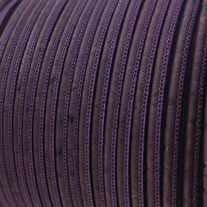 1 m/39 in of purple cork cord of 3 mm REF-421