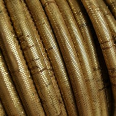 1 Meter / 39 in Portuguese Cork 5mm Leather Cord color Golden pigmentation - REF-431