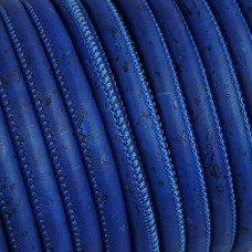 1m / 39 in - 3 mm Genuine Cork Cord royal blue (European product) REF-485