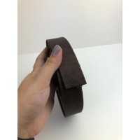Brown Flat cork Leather cord - 30mm x 2mm (European product) - REF-565