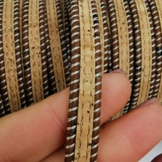 1 Meter Portuguese flat Cork Brown and Natural color 10x2mm - REF-82