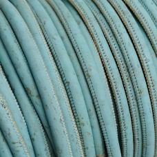 1m / 39 in - 3 mm Genuine Cork Cord light blue (European product) REF-90