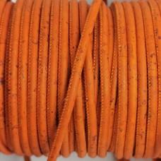 1 m/39 in of orange cork cord of 3 mm REF-97