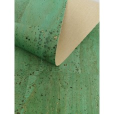 "Cork leather, green product, Portuguese cork fabric royal green 68x50cm / 27.50""x20"""