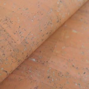 Cork leather - Portuguese cork fabric salmon