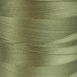 6000 meters of Cork Sewing Thread - Lubricated polyester thread, polyester floss Army Green