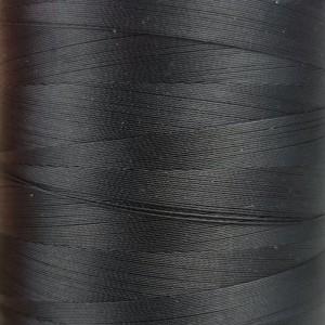 6000 meters of Cork Sewing Thread - Lubricated polyester thread, polyester floss Black