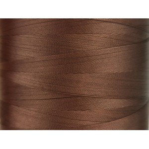 6000 meters of Cork Sewing Thread - Lubricated polyester thread, polyester floss Brown