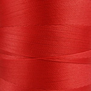 6000 meters of Cork Sewing Thread - Lubricated polyester thread, polyester floss Red