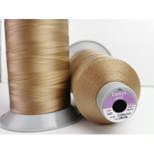 4000 meters of Cork Sewing Thread - Lubricated polyester thread, polyester floss U8438