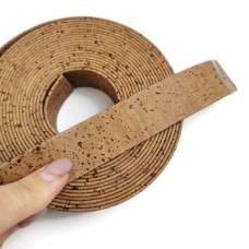 Tabac Flat cork Leather cord - 20mm x 2mm (European product) - REF