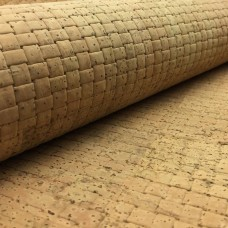 Cork leather - Portuguese cork fabric embossed tangled texture